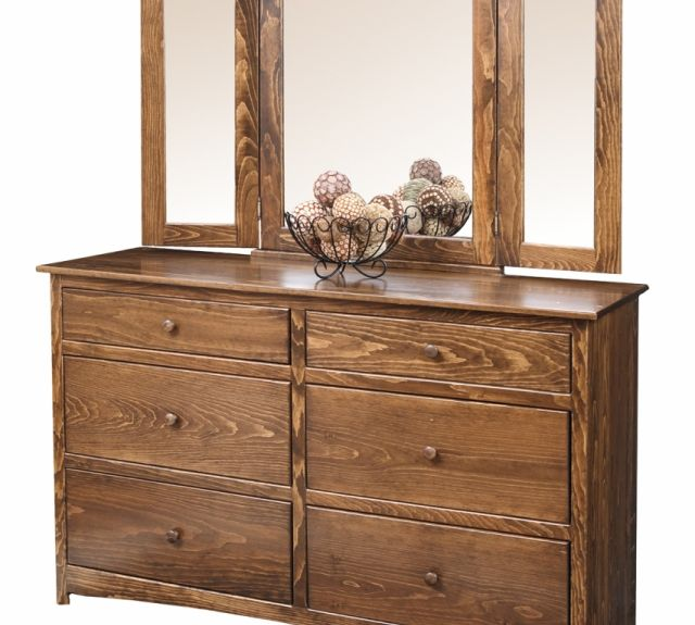 1422-1424 shaker dresser and mirror
