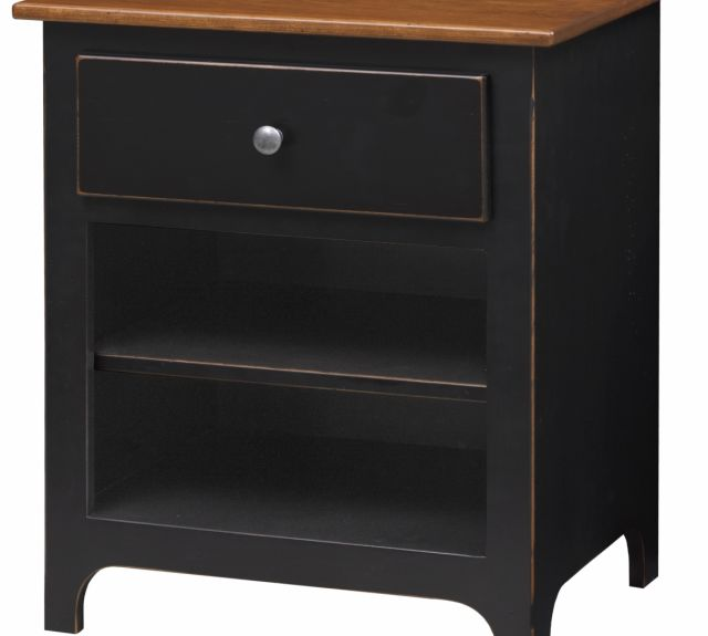 81_plymouth 1 drawer night stand w open shelf