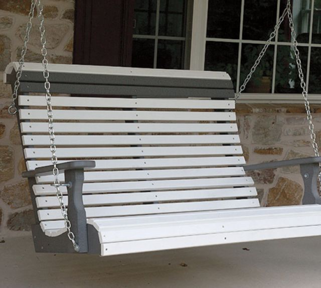 231741-4ft 2 tone porch swing