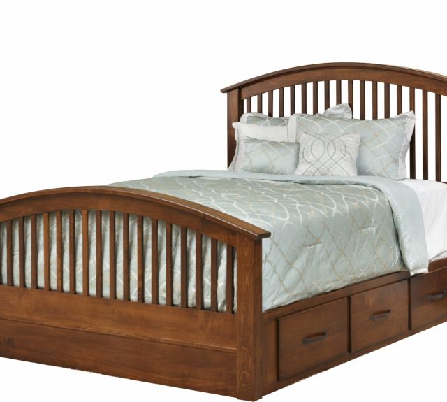 140 series_concord bed  arched footboard  6 drawer rails-2