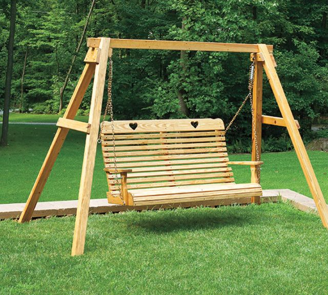 231741-wood a-frame w 5ft swing heart
